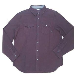 VANS light heavy weight long sleeve flannel shirt